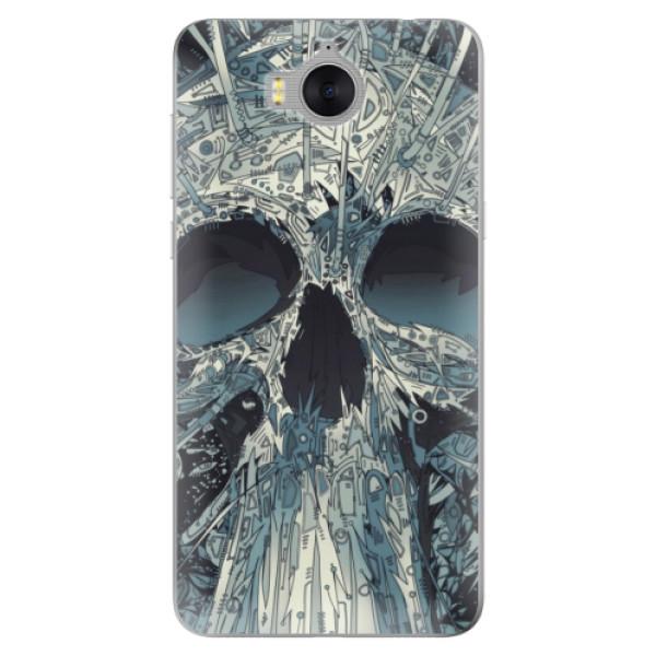 Silikonové pouzdro iSaprio - Abstract Skull - Huawei Y5 2017 / Y6 2017