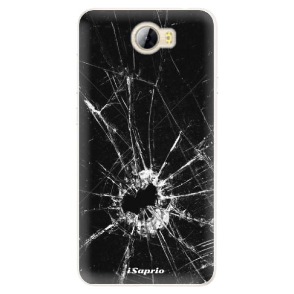 Silikonové pouzdro iSaprio - Broken Glass 10 - Huawei Y5 II / Y6 II Compact