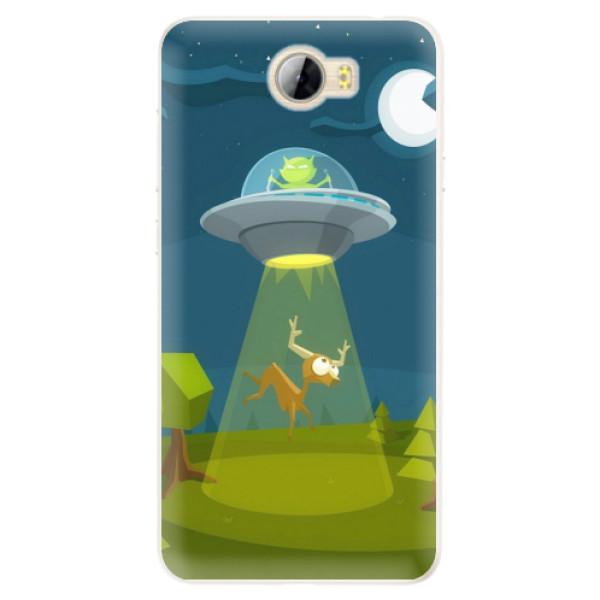 Silikonové pouzdro iSaprio - Alien 01 - Huawei Y5 II / Y6 II Compact
