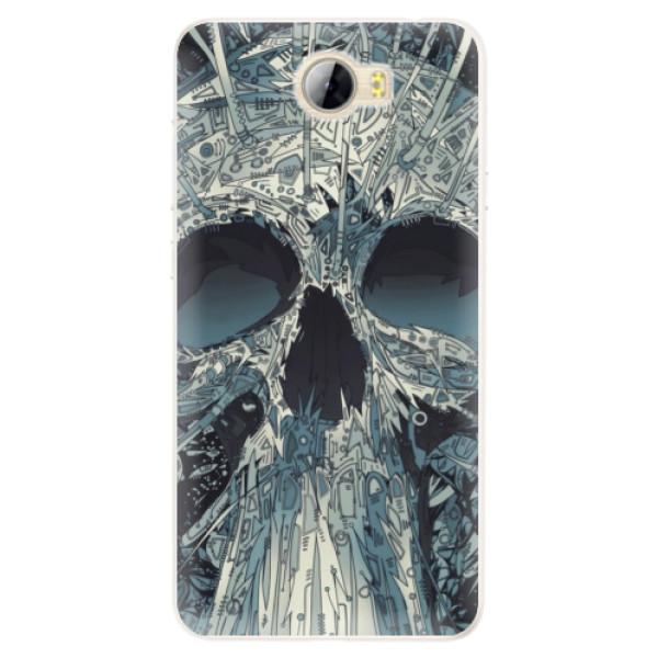Silikonové pouzdro iSaprio - Abstract Skull - Huawei Y5 II / Y6 II Compact
