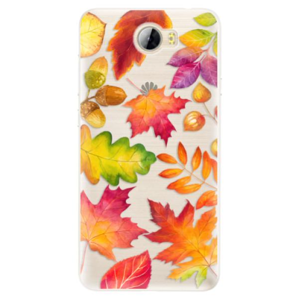 Silikonové pouzdro iSaprio - Autumn Leaves 01 - Huawei Y5 II / Y6 II Compact