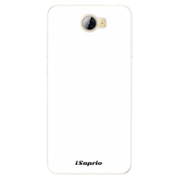 Silikonové pouzdro iSaprio - 4Pure - bílý - Huawei Y5 II / Y6 II Compact