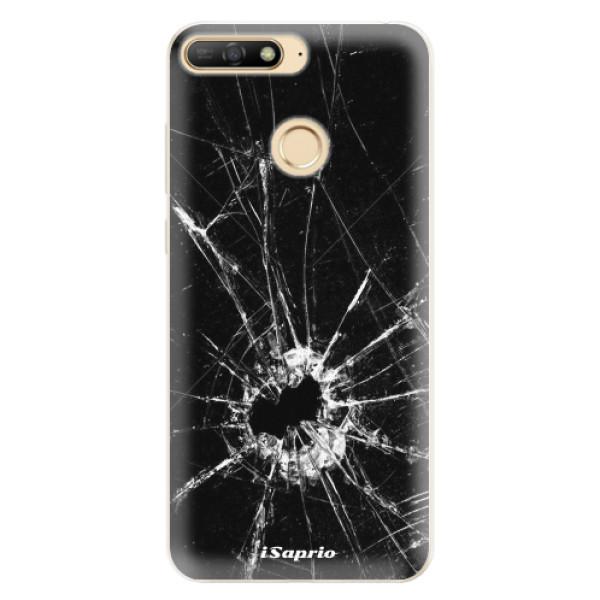 Silikonové pouzdro iSaprio - Broken Glass 10 - Huawei Y6 Prime 2018