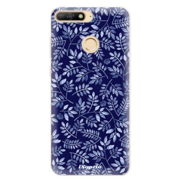 Silikonové pouzdro iSaprio - Blue Leaves 05 - Huawei Y6 Prime 2018