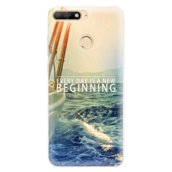 Silikonové pouzdro iSaprio - Beginning - Huawei Y6 Prime 2018