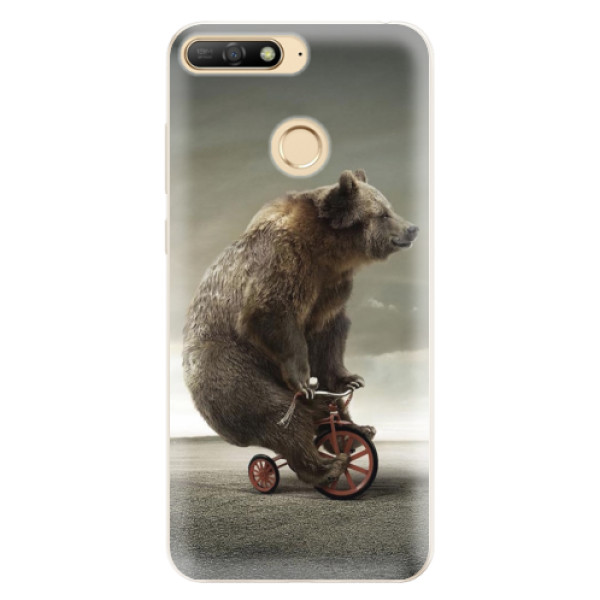 Silikonové pouzdro iSaprio - Bear 01 - Huawei Y6 Prime 2018
