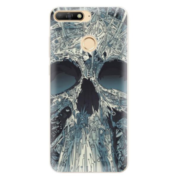 Silikonové pouzdro iSaprio - Abstract Skull - Huawei Y6 Prime 2018