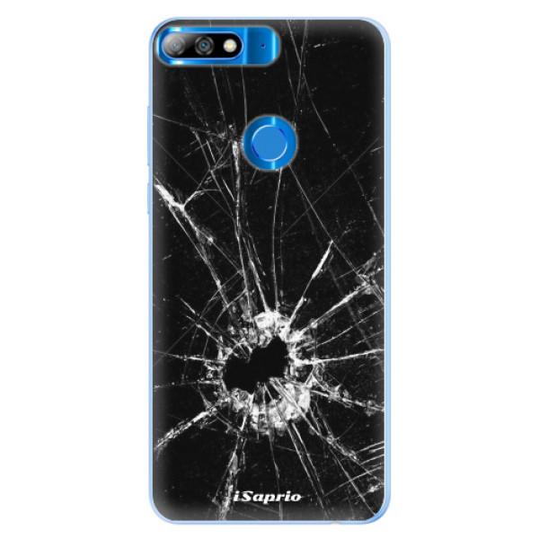 Silikonové pouzdro iSaprio - Broken Glass 10 - Huawei Y7 Prime 2018