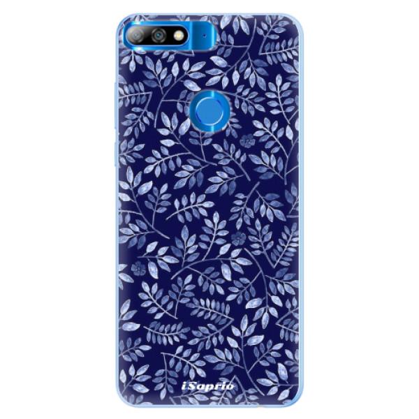 Silikonové pouzdro iSaprio - Blue Leaves 05 - Huawei Y7 Prime 2018