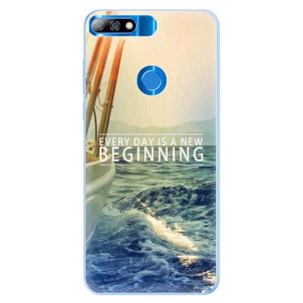 Silikonové pouzdro iSaprio - Beginning - Huawei Y7 Prime 2018