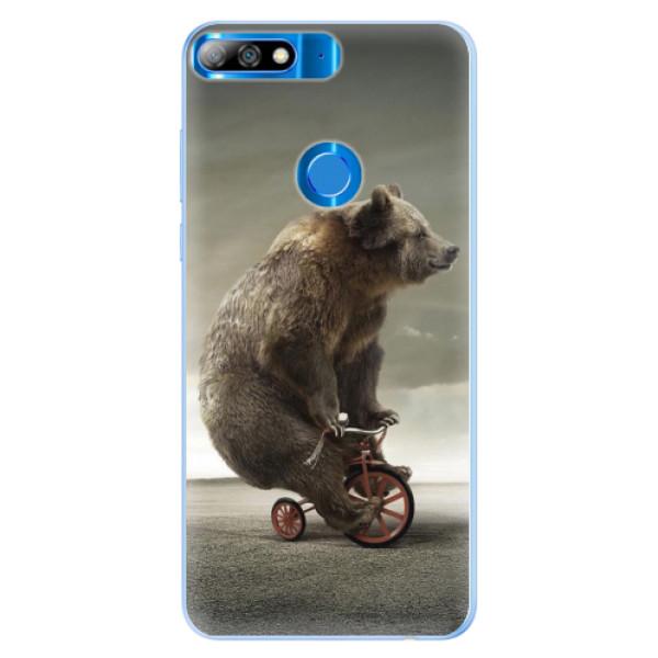 Silikonové pouzdro iSaprio - Bear 01 - Huawei Y7 Prime 2018