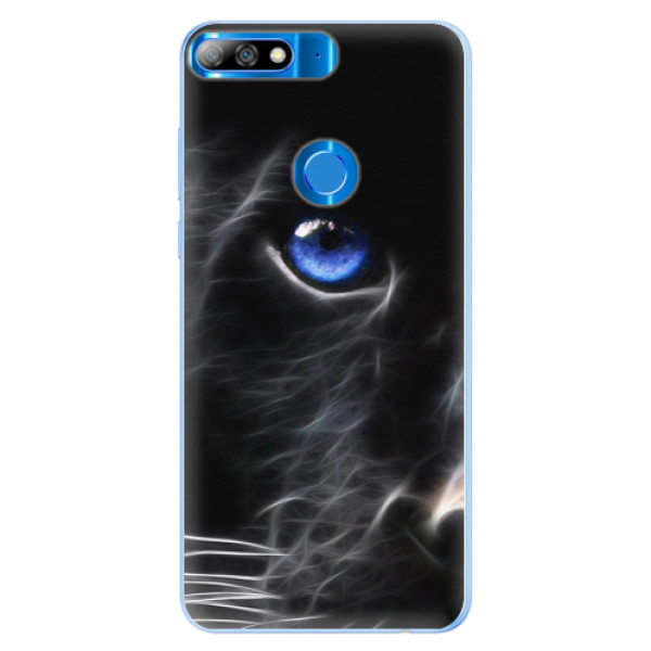 Silikonové pouzdro iSaprio - Black Puma - Huawei Y7 Prime 2018