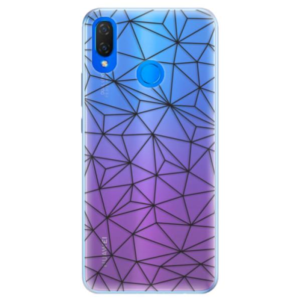 Silikonové pouzdro iSaprio - Abstract Triangles 03 - black - Huawei Nova 3i
