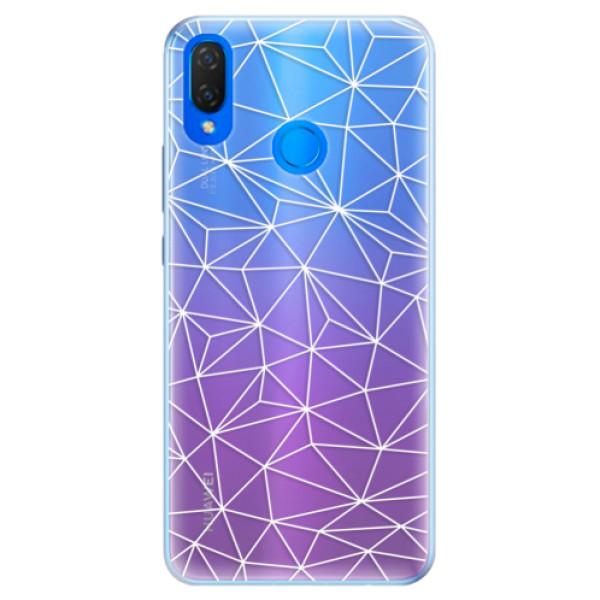 Silikonové pouzdro iSaprio - Abstract Triangles 03 - white - Huawei Nova 3i