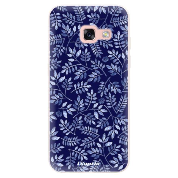 Silikonové pouzdro iSaprio - Blue Leaves 05 - Samsung Galaxy A3 2017