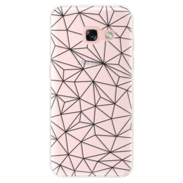 Silikonové pouzdro iSaprio - Abstract Triangles 03 - black - Samsung Galaxy A3 2017