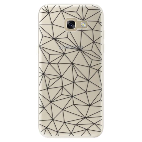 Silikonové pouzdro iSaprio - Abstract Triangles 03 - black - Samsung Galaxy A5 2017