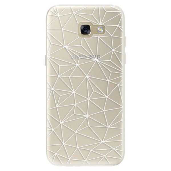 Silikonové pouzdro iSaprio - Abstract Triangles 03 - white - Samsung Galaxy A5 2017
