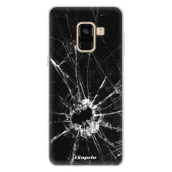 Silikonové pouzdro iSaprio - Broken Glass 10 - Samsung Galaxy A8 2018