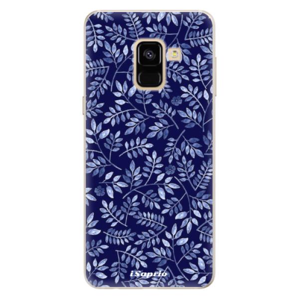 Silikonové pouzdro iSaprio - Blue Leaves 05 - Samsung Galaxy A8 2018