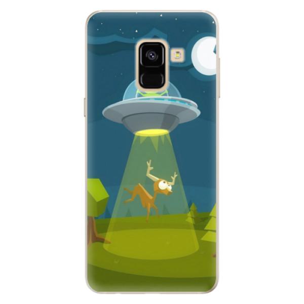 Silikonové pouzdro iSaprio - Alien 01 - Samsung Galaxy A8 2018