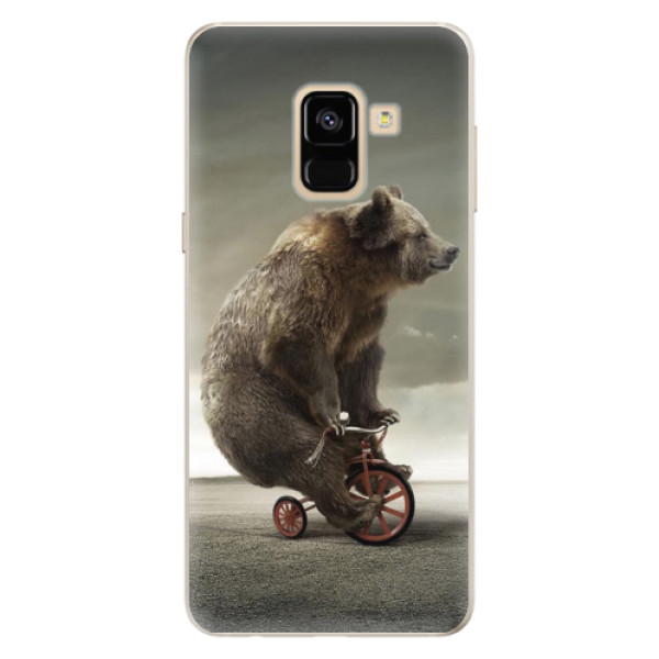 Silikonové pouzdro iSaprio - Bear 01 - Samsung Galaxy A8 2018