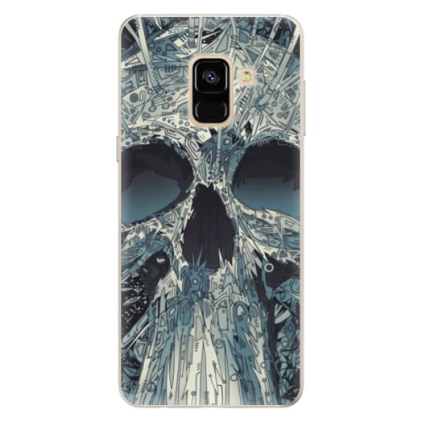 Silikonové pouzdro iSaprio - Abstract Skull - Samsung Galaxy A8 2018