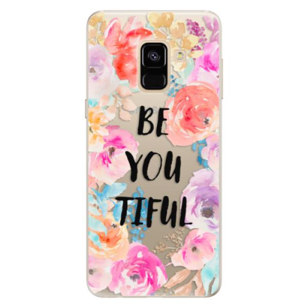Silikonové pouzdro iSaprio - BeYouTiful - Samsung Galaxy A8 2018