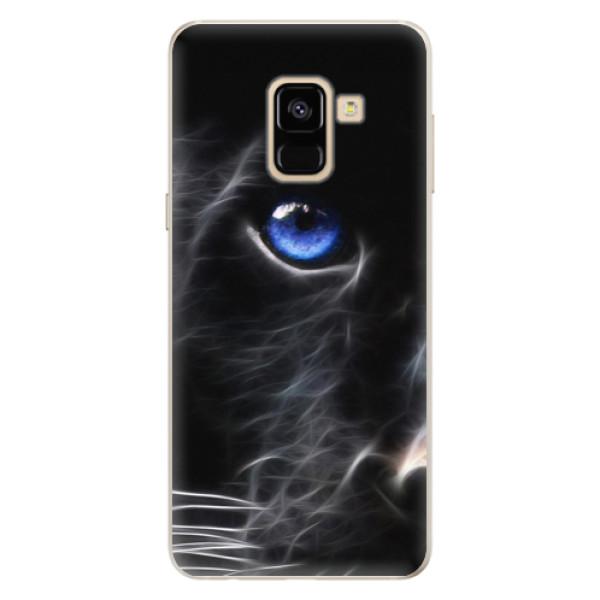 Silikonové pouzdro iSaprio - Black Puma - Samsung Galaxy A8 2018
