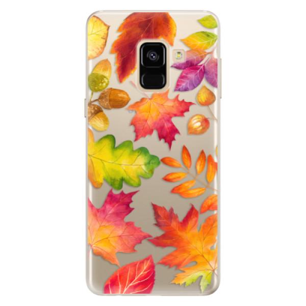 Silikonové pouzdro iSaprio - Autumn Leaves 01 - Samsung Galaxy A8 2018