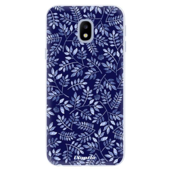 Silikonové pouzdro iSaprio - Blue Leaves 05 - Samsung Galaxy J3 2017