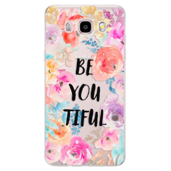 Silikonové pouzdro iSaprio - BeYouTiful - Samsung Galaxy J5 2016