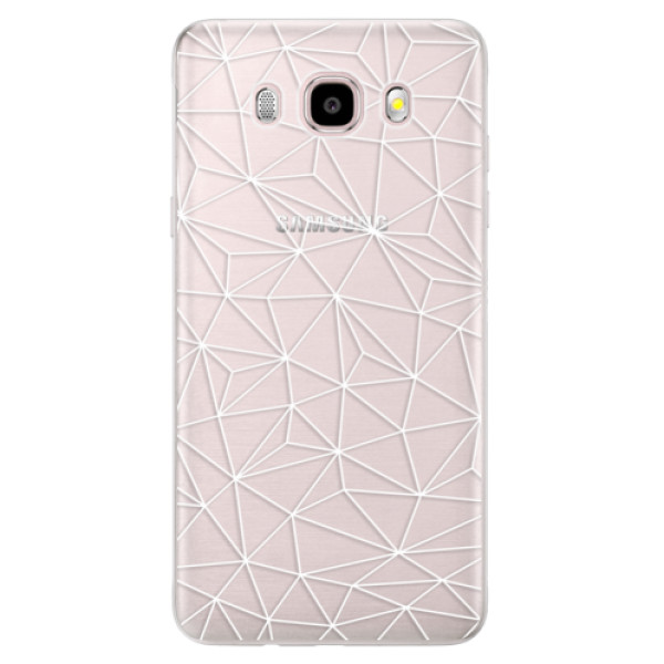 Silikonové pouzdro iSaprio - Abstract Triangles 03 - white - Samsung Galaxy J5 2016