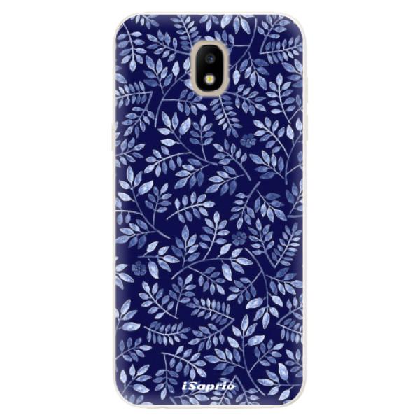 Silikonové pouzdro iSaprio - Blue Leaves 05 - Samsung Galaxy J5 2017