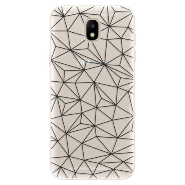 Silikonové pouzdro iSaprio - Abstract Triangles 03 - black - Samsung Galaxy J5 2017