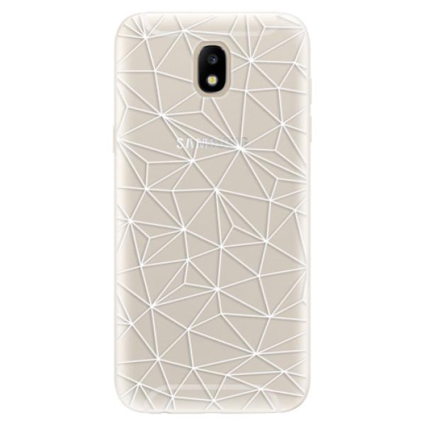 Silikonové pouzdro iSaprio - Abstract Triangles 03 - white - Samsung Galaxy J5 2017