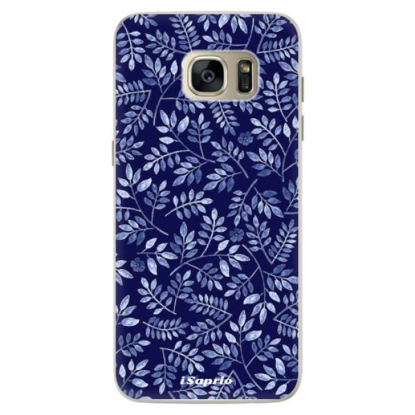 Silikonové pouzdro iSaprio - Blue Leaves 05 - Samsung Galaxy S7