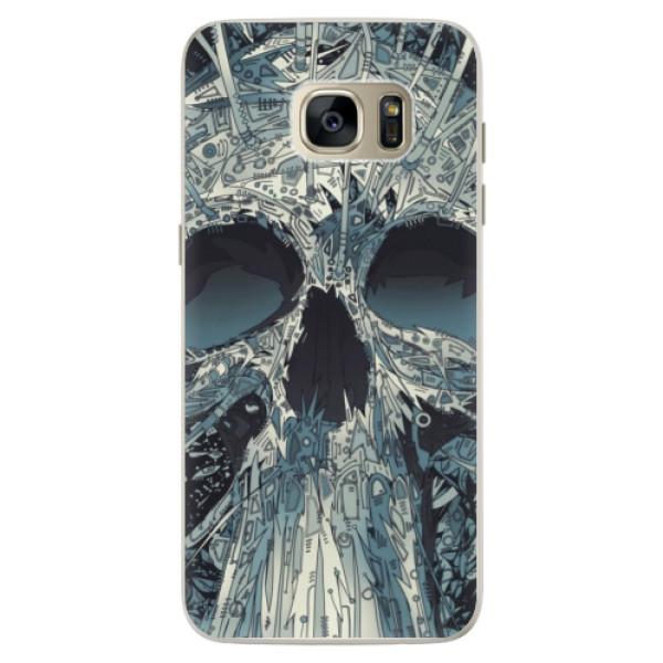Silikonové pouzdro iSaprio - Abstract Skull - Samsung Galaxy S7