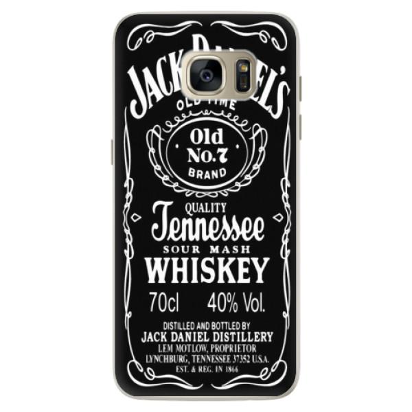 Silikonové pouzdro iSaprio - Jack Daniels - Samsung Galaxy S7