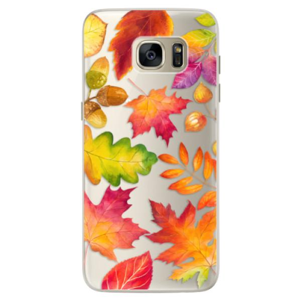 Silikonové pouzdro iSaprio - Autumn Leaves 01 - Samsung Galaxy S7