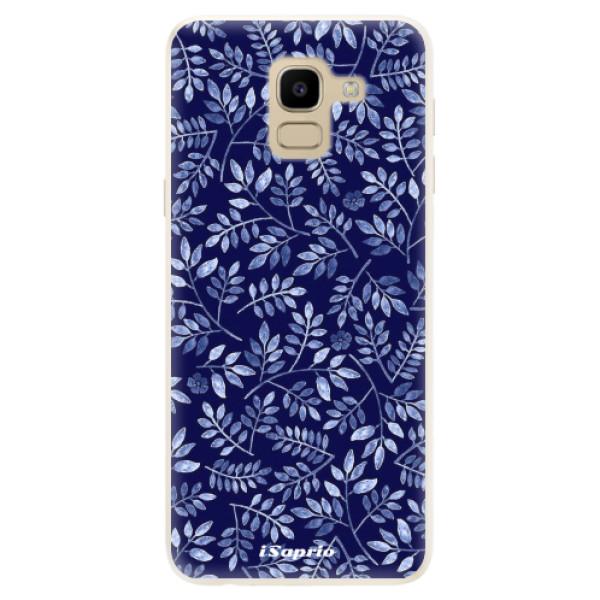 Silikonové pouzdro iSaprio - Blue Leaves 05 - Samsung Galaxy J6