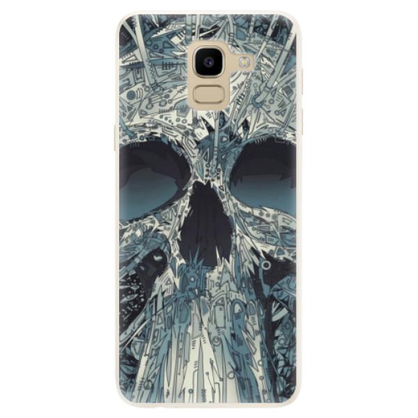 Silikonové pouzdro iSaprio - Abstract Skull - Samsung Galaxy J6