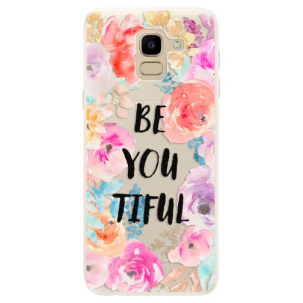 Silikonové pouzdro iSaprio - BeYouTiful - Samsung Galaxy J6