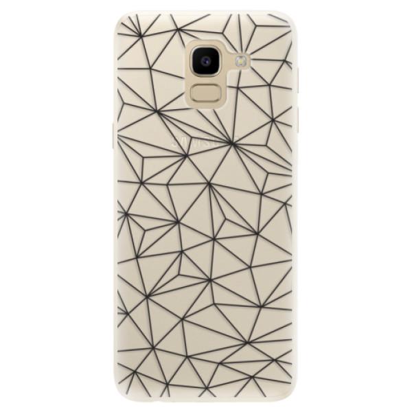 Silikonové pouzdro iSaprio - Abstract Triangles 03 - black - Samsung Galaxy J6