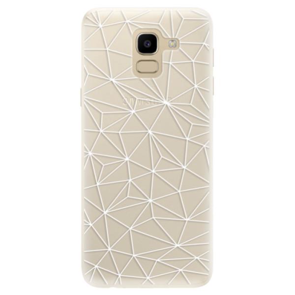 Silikonové pouzdro iSaprio - Abstract Triangles 03 - white - Samsung Galaxy J6