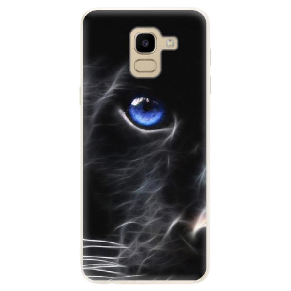 Silikonové pouzdro iSaprio - Black Puma - Samsung Galaxy J6