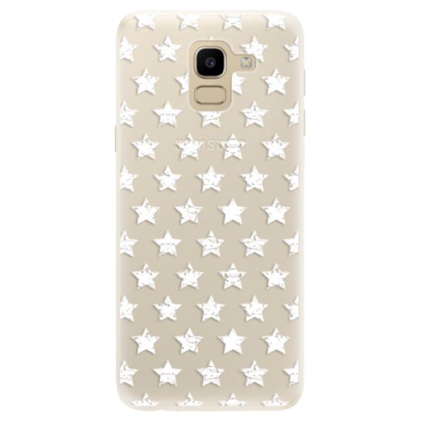 Silikonové pouzdro iSaprio - Stars Pattern - white - Samsung Galaxy J6