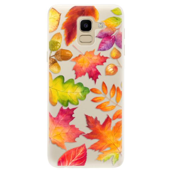 Silikonové pouzdro iSaprio - Autumn Leaves 01 - Samsung Galaxy J6