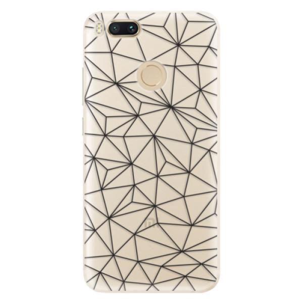 Silikonové pouzdro iSaprio - Abstract Triangles 03 - black - Xiaomi Mi A1