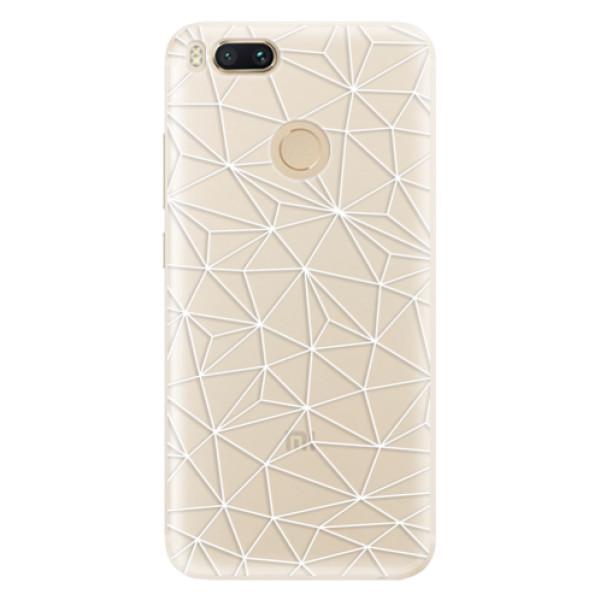 Silikonové pouzdro iSaprio - Abstract Triangles 03 - white - Xiaomi Mi A1